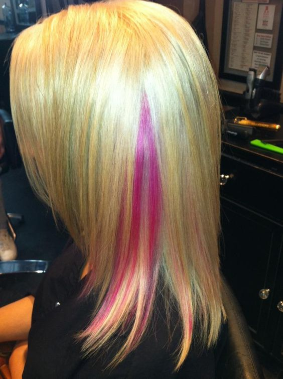 Extreme hair colors colors and hot pink on pinterest for About you salon bayonne nj