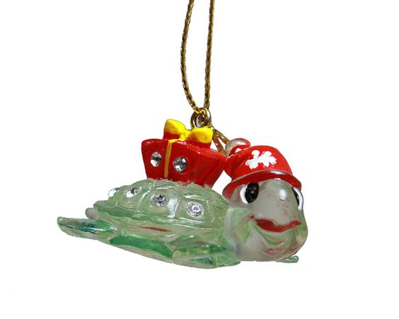 CLEAR TURTLE ORNAMENT