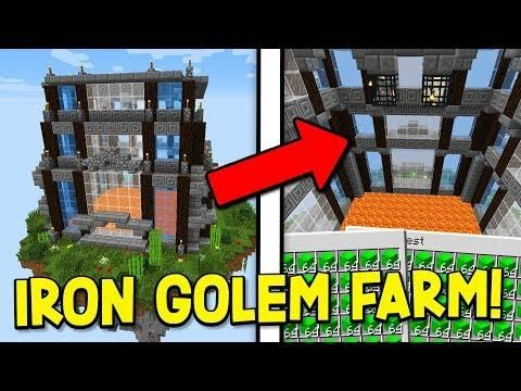 Building The Best Iron Golem Farm Ever Minecraft Skyblock 3