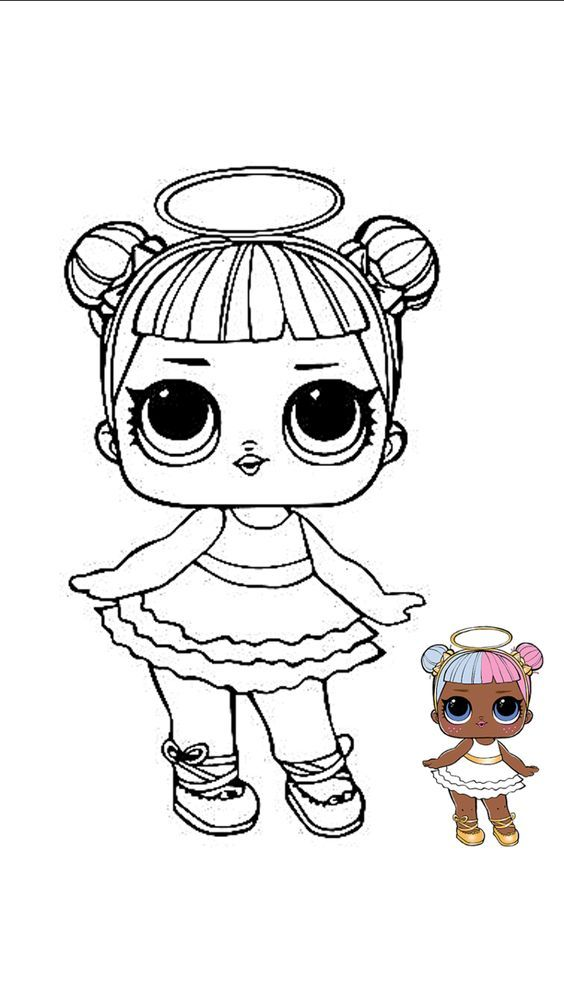 Lol Angel Para Colorear Lol Dolls Cartoon Coloring Pages Coloring Books