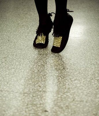 DIY studded mocs