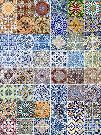 conjunto de 48 padrões de telhas cerâmicas — Imagem Stock #11183628