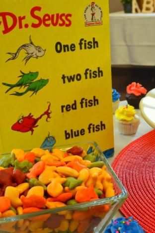 Baby showers fish crackers and dessert tables on pinterest for Baby koi food