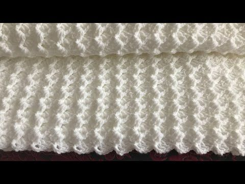 This Tutorial Will Walk You Through This Beautiful Large Crochet Blanket This Soft Easy Crochet Baby Blanket Baby Blanket Crochet Baby Blanket Crochet Pattern