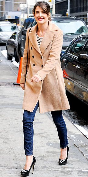 Tan and stripes--100 Inspirations   celebrity style for less