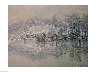 The Seine at Port Villez in Winter, 1885, Art Print by Claude Monet