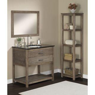 Elements 36-inch Granite Top Single Sink Bathroom Vanity | Granite ...