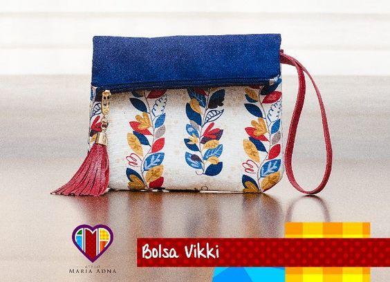 Bolsa de tecido Vikki. #bolsasdetecido #bolsasartesanais #bolsasfemininas #artesanatoemtecido #arteemtecido