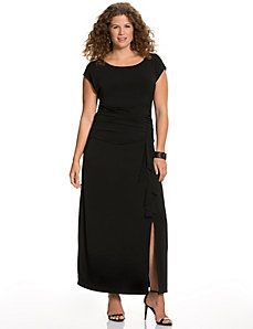 Ruffled maxi dress. Lane Bryant -  2.5% CASH BACK! Click here for savings:  http://www.myeconmall.com/?r=a53sdxK8X7z1a43z 40% off - Salute to Style!! Use Code: SALUTELB (expires: 11/11/14 at 11:59 PM)