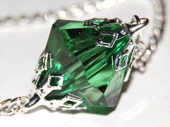 Smallville - Superman Inspired Lana Lang's Kryptonite Necklace - Green Acrylic. $16.00, via Etsy.