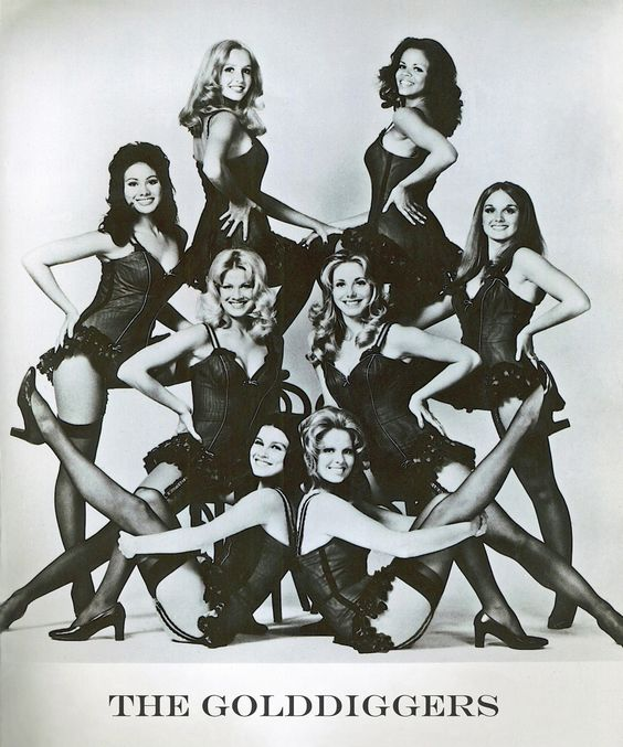 The Golddiggers 1973 - From bottom left to right: Patti Gribow, Susan Buckner, Maria (Alberici) Lauren, Robin Hoctor-Horneff, Deborah Pratt, Lee Nolting, Coleen Kincaid-Jackson, Linda (Alberici) Eichberg Copyright: Beyond Our Wildest Dreams