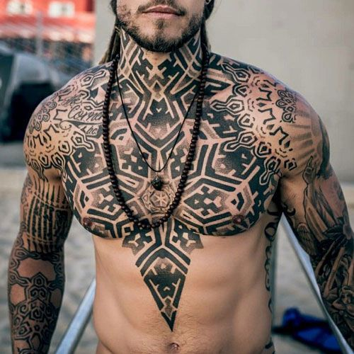 101 Best Chest Tattoos For Men Cool Ideas Designs 2019 Guide Tribal Chest Tattoo Desig Chest Tattoo Men Cool Chest Tattoos Tattoos For Guys