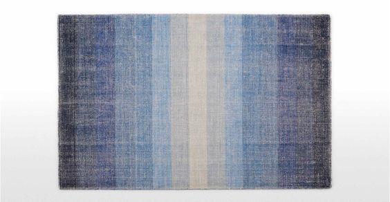 Boston, tapis 120 x 170 cm, bleu atlantique | made.com