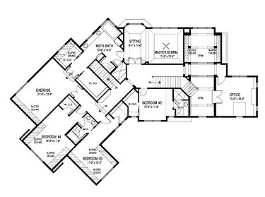 Second Floor Plan Master Bedroom W Master Bathroom Wics