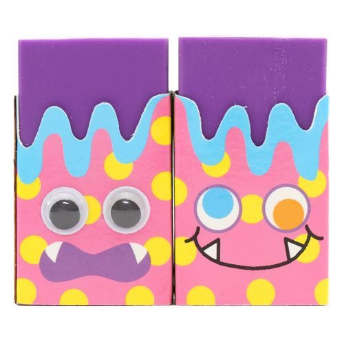 cute purple funny eye colorful monster scented eraser from Japan 1
