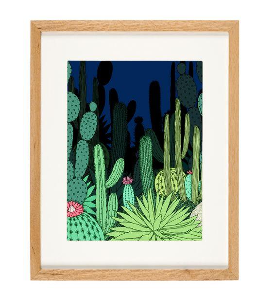 'Night Garden' - limited Edition of 50 - A3 giclee print (unframed) - anniedavidson.bigcartel.com