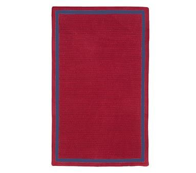 Capel Chenille Rug 8' x 10' Rectangle, Red with Dark Navy