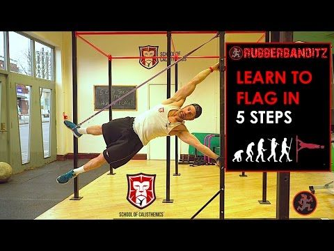 Learn To Human Flag In 5 Steps In This How To Calisthenics Video Youtube Human Flag Calisthenics Pole Fitness