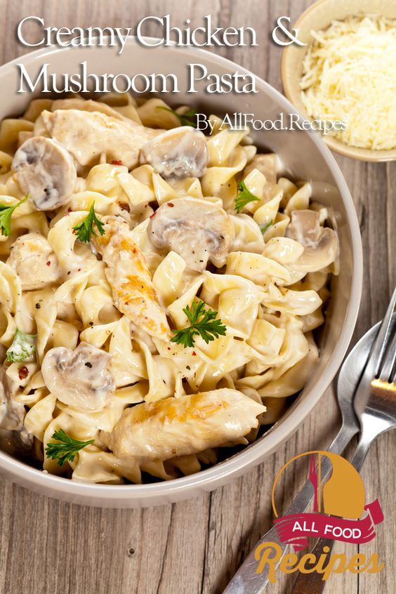 Chicken breast and mushroom pasta recipes