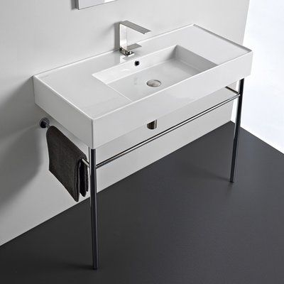 Scarabeo By Nameeks Ceramic 40 Console Bathroom Sink With