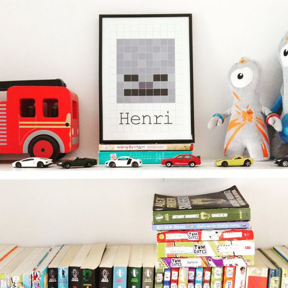 Personalised Minecraft Skeleton Print by TheHappyCotswoldCo