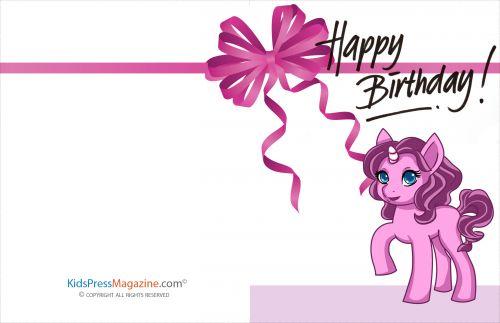 printable girl birthday card
