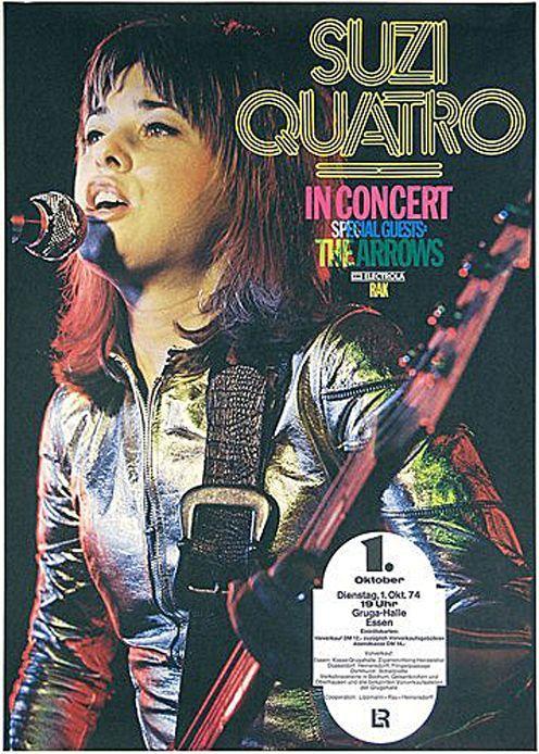 Suzi Quatro If You Can T Give Me Love 1978 Give Love Quatro Suzi Female Rock Stars Music Poster Rock Music