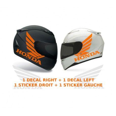 kit 2 stickers autocollants ailes honda pour casque moto. Black Bedroom Furniture Sets. Home Design Ideas