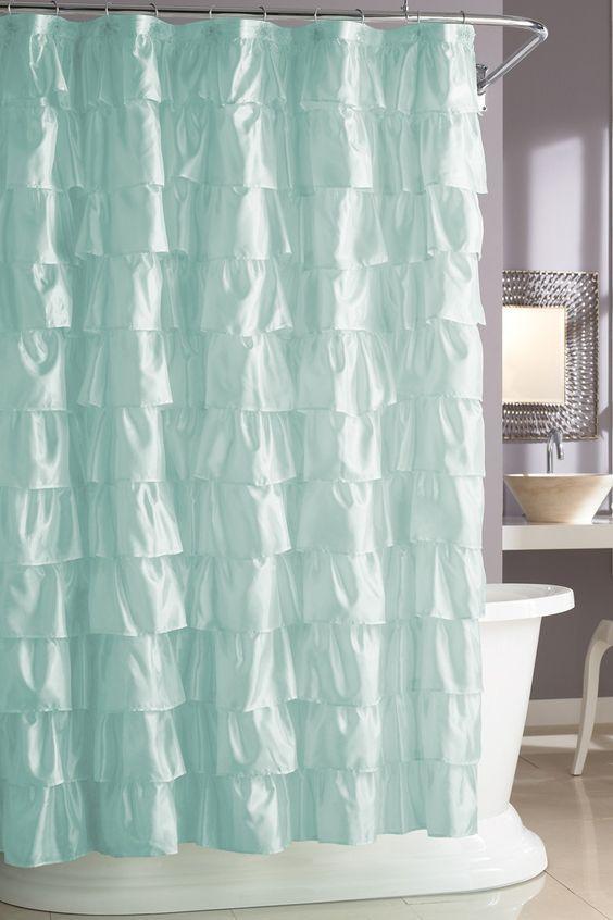 It looks like waves in the ocean ... Steve Madden Ruffles Shower Curtain $24.99
