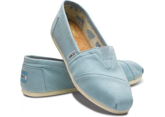 The new pair of Toms I just bought! Sky blue :)