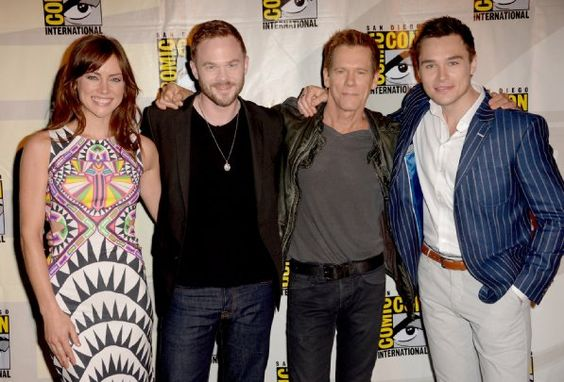 Kevin Bacon, Shawn Ashmore, Jessica Stroup and Sam Underwood at event of The Following (2013)