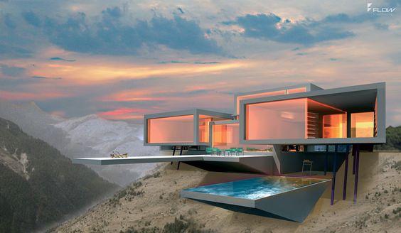 Futuristische Luxushäuser in expressiver Architektur für höchste Stilansprüche.