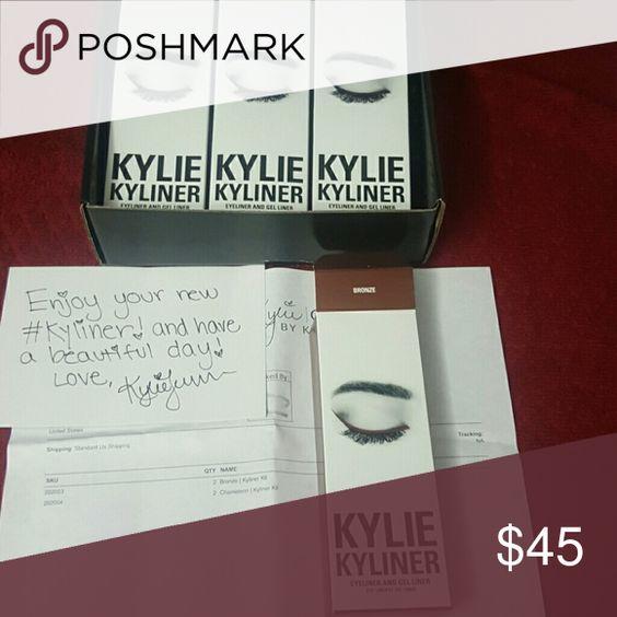 Bronze Kylie Cosmetics Kyliner NIB, never been used. Kylie Cosmetics Kyliner Bronze. 100% authentic Kylie Cosmetics Makeup Eyeliner