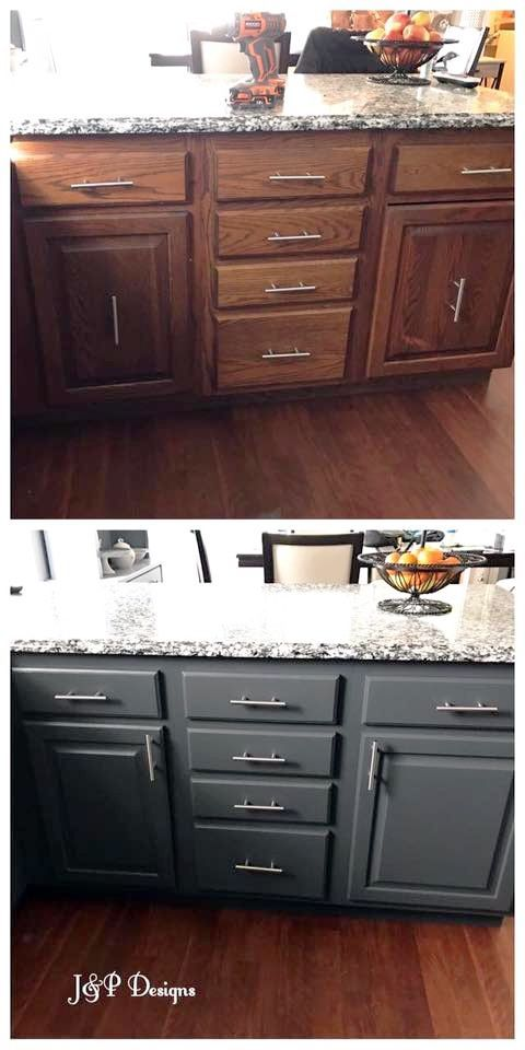Kitchen Cabinet Makeover With General Finishes Snow White And Queenstown Gray Milk Paint Kitchen Cabinet Design Kitchen Cabinets Makeover Best Kitchen Cabinets