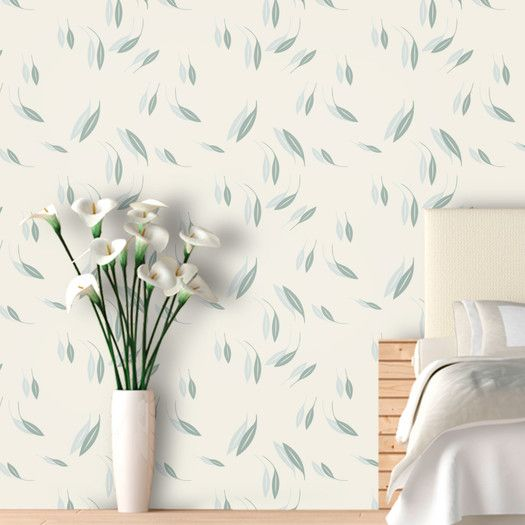 Swag Paper Falling Leaves Botanical Panel Wallpaper | AllModern