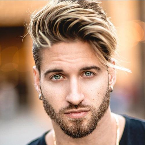Best Men S Haircuts For Your Face Shape 2020 Illustrated Guide Men Blonde Hair Oblong Face Hairstyles Curly Hair Men
