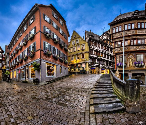 """Tübingen, Market square at night, Germany, Baden-Württemberg - <a href=""""http://www.flickr.com/photos/dleiva/sets/72157602270484801/show/"""">To see my set Germany, Click here</a>"""