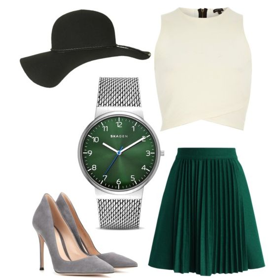 sophisticate by mm01850 on Polyvore featuring polyvore fashion style River Island Chicwish Gianvito Rossi Skagen Topshop