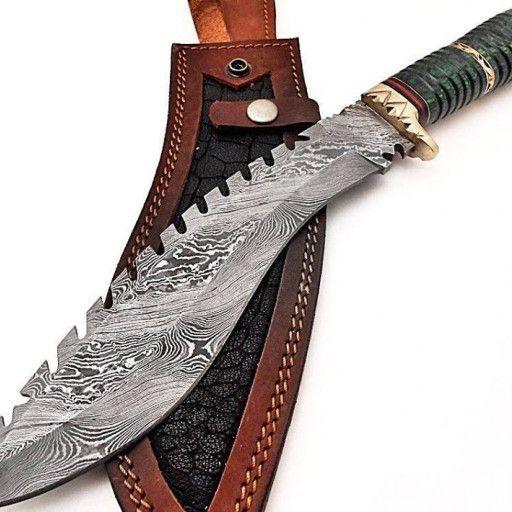 Beautiful Handmade Damascus Hunting Kukri Knife With Case Jn10128 In 2020 Knife Damascus Steel Best Pocket Knife