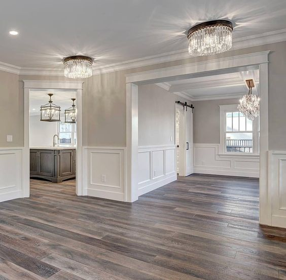 Gray Walls Wainscoting