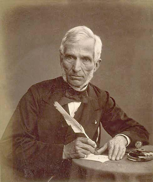 An image of Antoine Claudet taken by Thomas Rodger, c.1860.