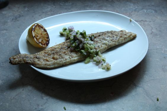 Fish with Cucumber Salsa (From Bon Apetit)