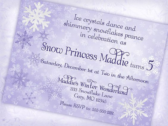 snow princess invitation winter wonderland invitation - | winter, Party invitations