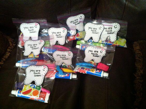 Dental Health Goodie Bags And Dental On Pinterest