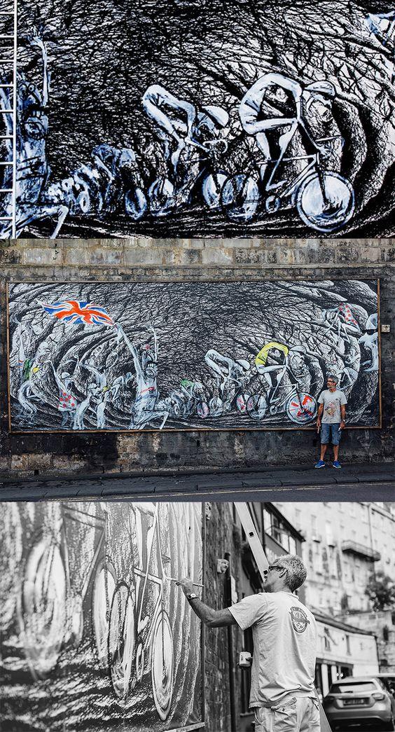 Simon Spilsbury   Illustrators   Central Illustration Agency #simon #spilsbury #playful#spanish #illustration #bikes #cycling #music #mural #characters #decorative #detail #street #design #graffiti