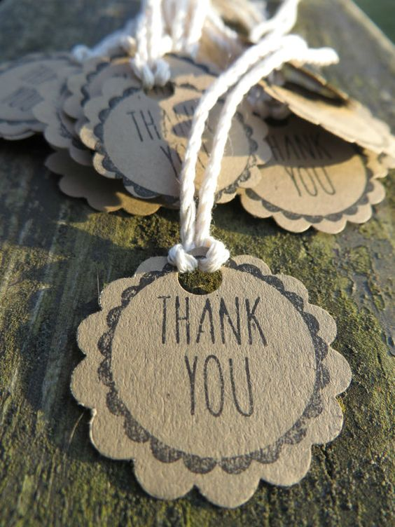 Thank You Tags - Set of 20 for just $4.99!