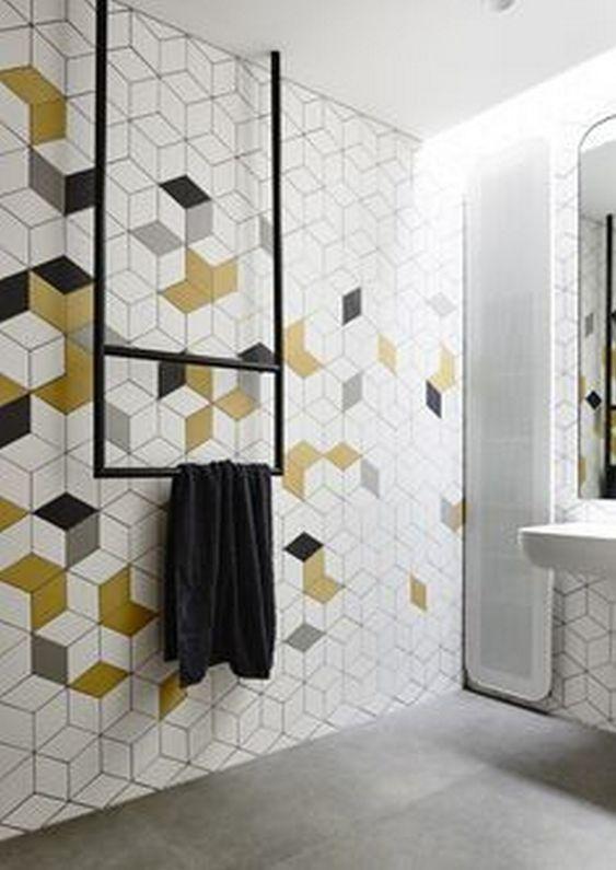 Best 15 Bathroom Tile Ideas Gelbe Badezimmer Dusche Fliesen