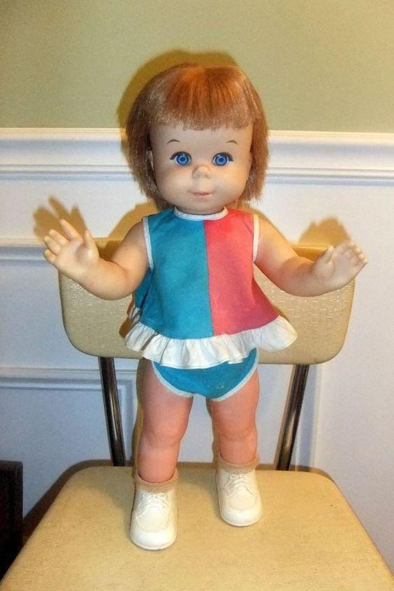 "VINTAGE MATTEL ""BABY STEP"" 18"" DOLL ~ 1964 #Mattel # ..."