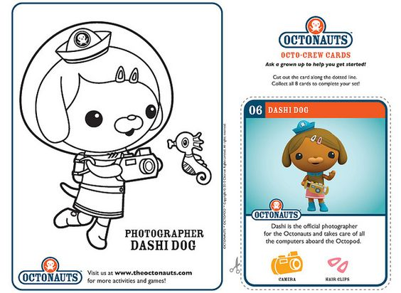 Octonauts coloring sheets. not really educational except for practicing motor skills.  Also comes with collectible Octo-crew cards to cut out.  More found at: http://disney.go.com/disneyjunior/octonauts/octonauts-coloring-create