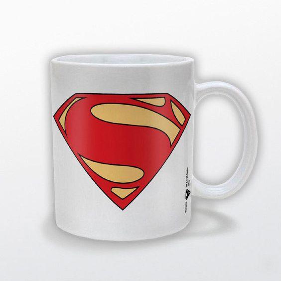 Taza Superman. Man Of Steel Logo